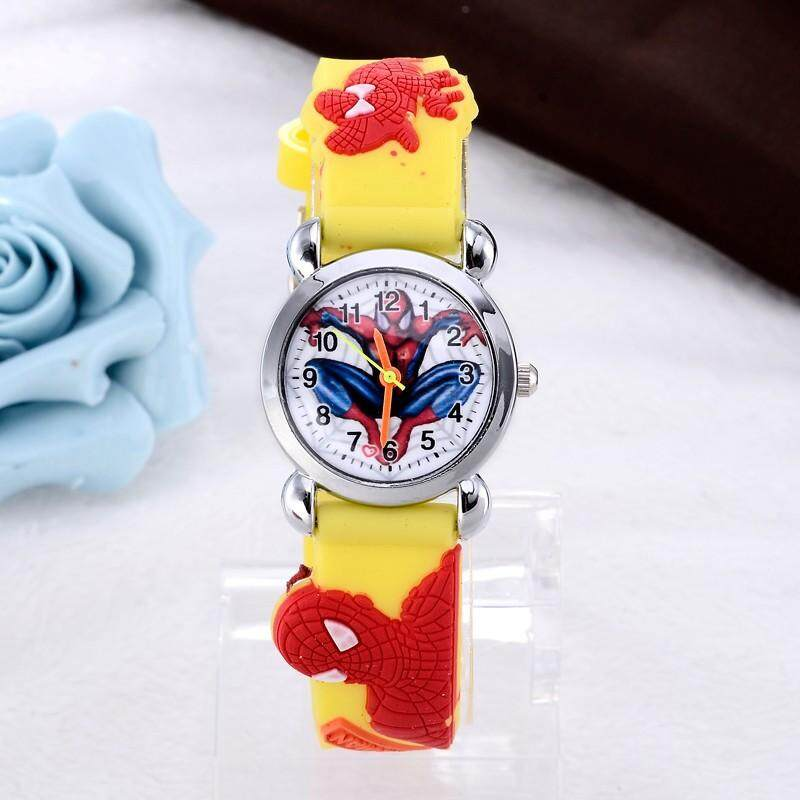 【ready stock】YB1155 super cool movie hero cartoon kids watch 3D rubber Child Clock boy gift wristwatch Malaysia
