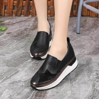 Nữ Tăng Gót Giày Hàn Quốc Mới Modal Nền Tảng Giày Nữ Thường Thoáng Khí Đế Độn thumbnail