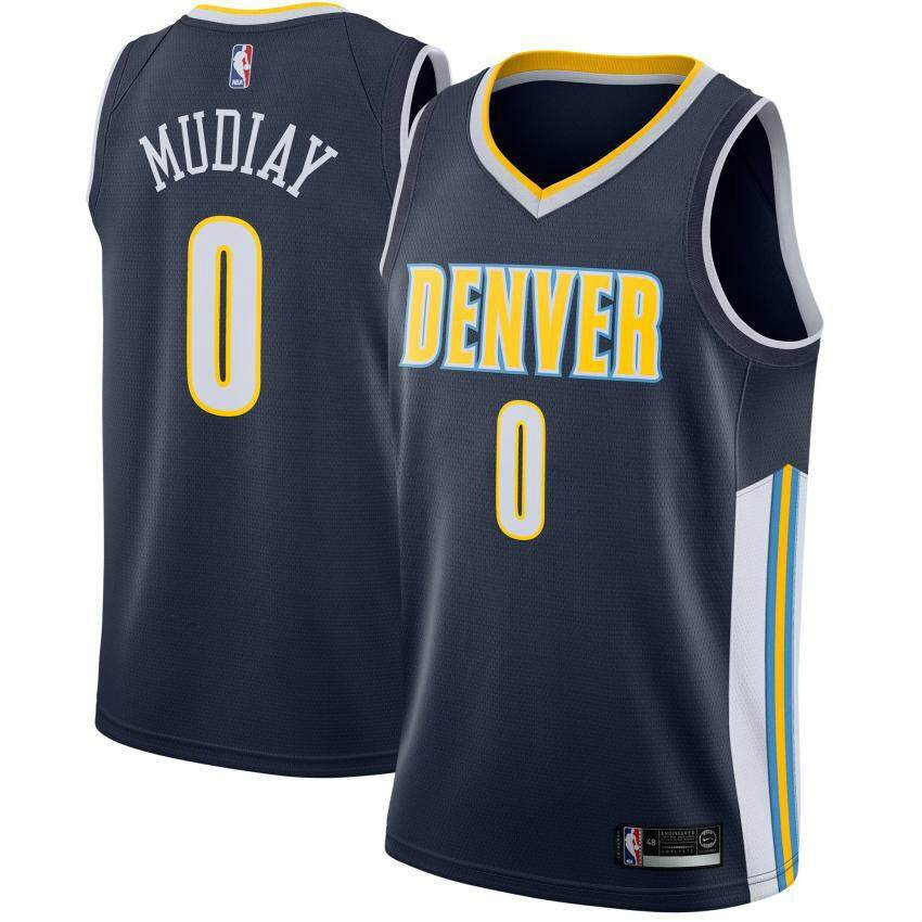28abd711b01 Swingman Jersey Basketball Clothes Emmanuel Mudiay For Male Denver Nuggets  Num 0 Adult Top High Quality