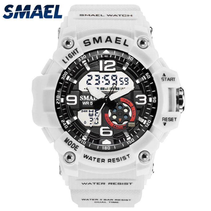 SMAEL Top Brand Luxury Unisex Fashion Sport Watches Mens Watches Women LED Digital Quartz Electronic Clock Casual Waterproof Military Watch Malaysia