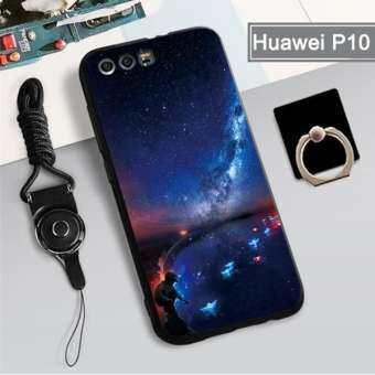 สำหรับ Huawei P10 360 ° ป้องกันโทรศัพท์เคสซิลิโคนกันกระแทกเคสโทรศัพท์เคสโทรศัพท์สำหรับ Huawei P10, huawei เคสโทรศัพท์ฟรี Lanyard ที่วางที่ตั้งแหวน