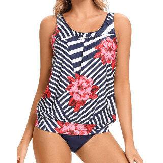 Bikini Chất Lượng Cao Cho Nữ Đồ Bơi Tankini, Áo Kiểm Soát Bụng Với Quần Short, Bộ Đồ Tắm Hai Mảnh thumbnail