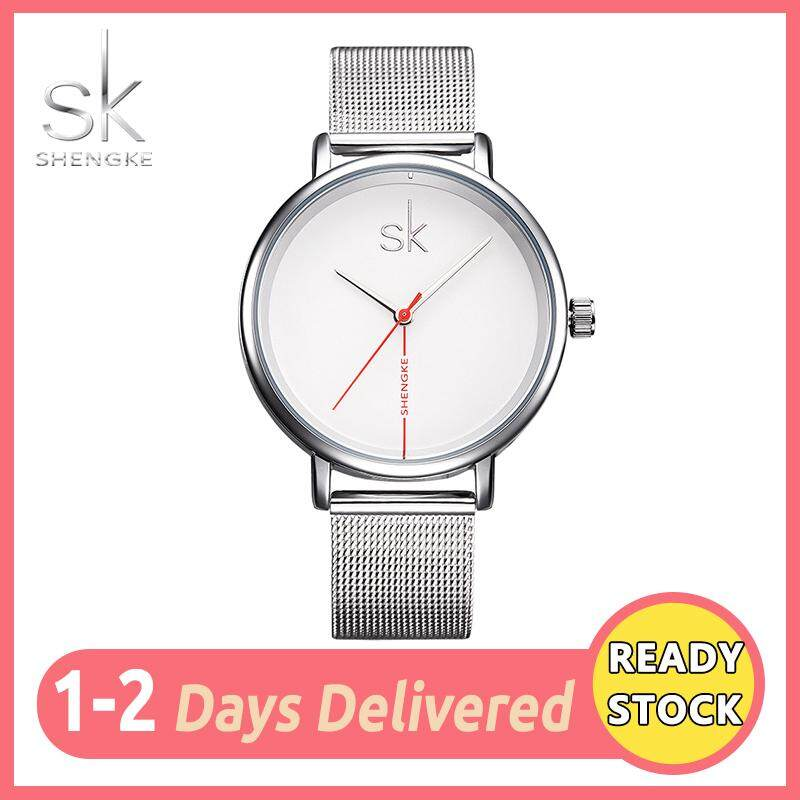 1290e7538 SK Fashion Watch for Women Classic Casual Simple Round Dail Waterproof  Minimalist Mesh Belt Girl Female