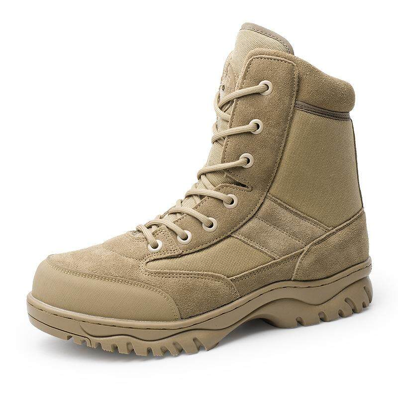 Men's and women's special forces military boots High-top desert boots Combat boots Tactical boots Large size outdoor