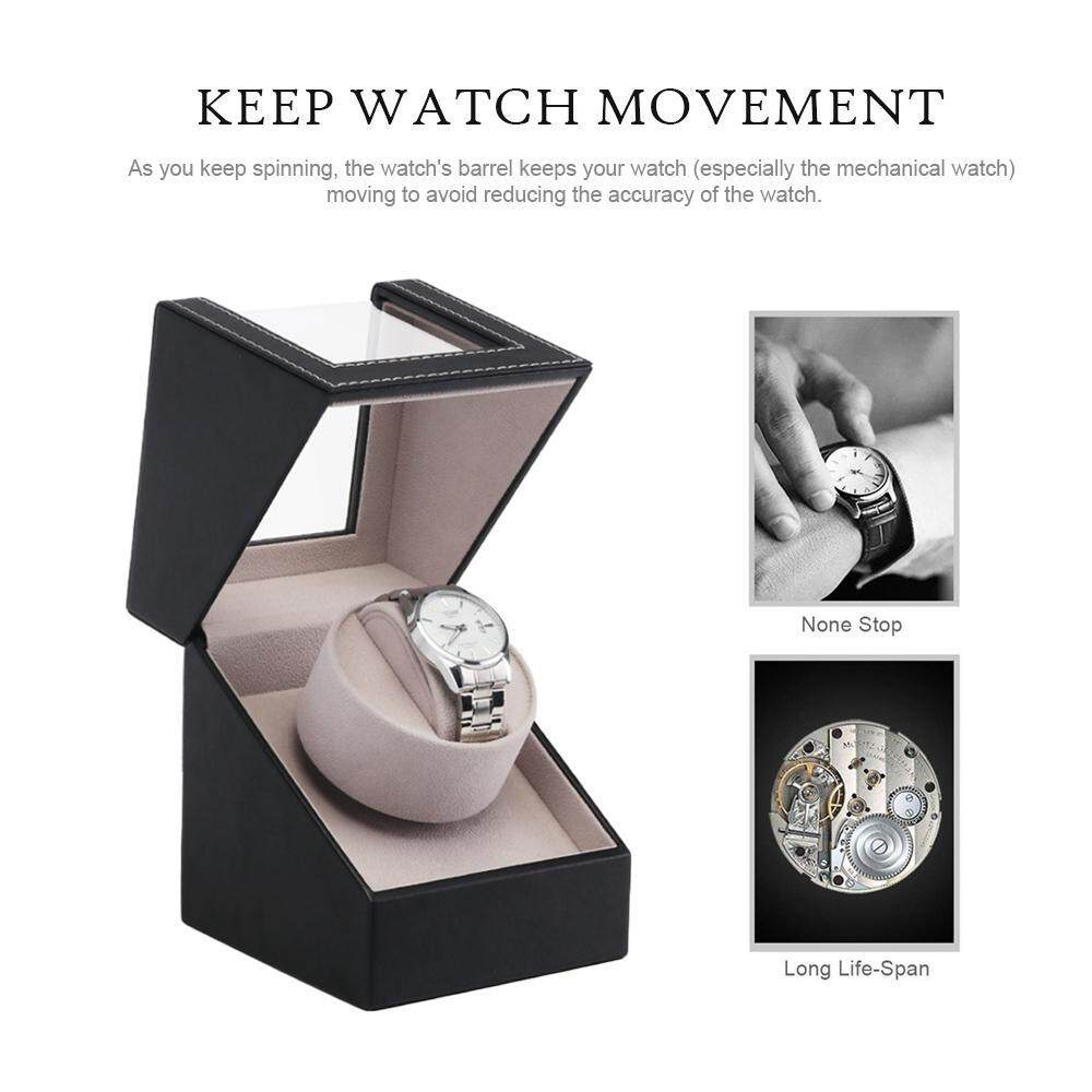 BuyInBulk Watch Winder Fashion Automatic Self-winding Box Luxury PU Leather Quiet Motor Rotation Watch Gift Box Adjustable Perfect Complement to The Watches Malaysia