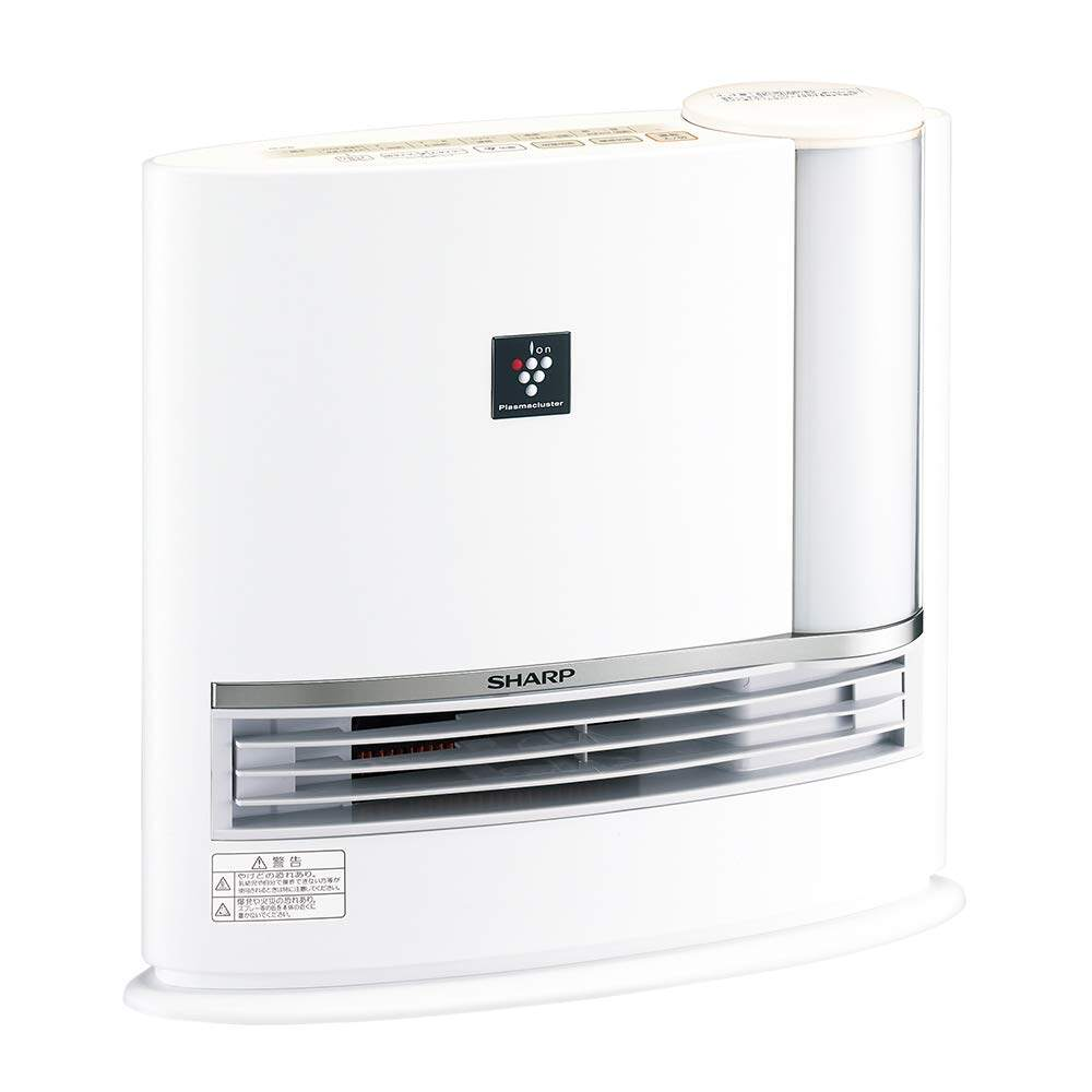 Sharp Plasma Cluster Ceramic Fan With Mounting Humidifying Function Heater White Hx-H120-W.