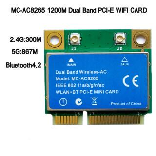 MC-AC8265 Thẻ WIFI PC-E BT4.2 Băng Tần Kép 2.4G 5G, Đối Với Intel 8265NGW 8265D2W 8265HMW thumbnail