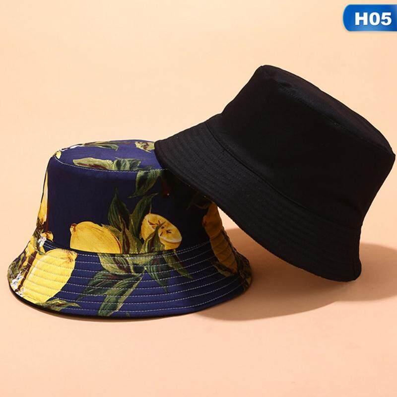 Acagedem 2019 Two Sides Reversible Fruit Cherry Bucket Hat for Men Women  Fisherman Hat Panama Bob Hat Summer Pineapple, Watermelon Lemon