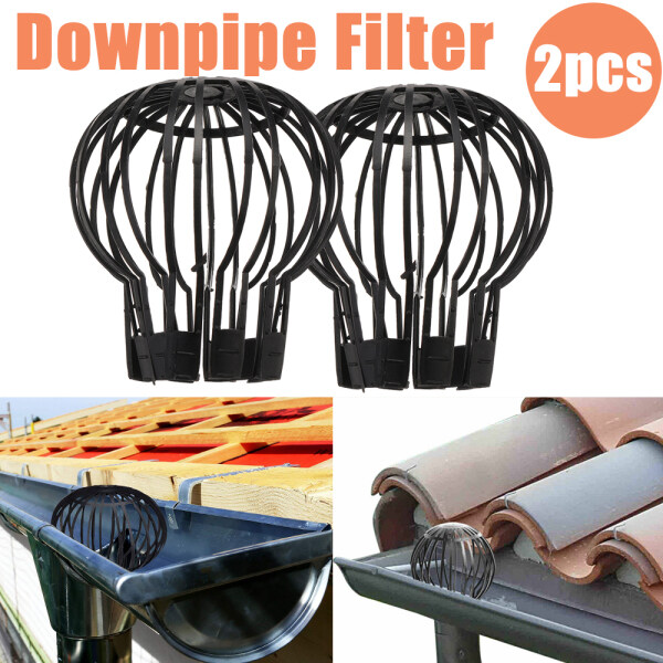 1/2x Gutter Downpipe Balloon Guard Blockage Filters Stops Leaves Debri Down Pipe For Most Household Downpipes