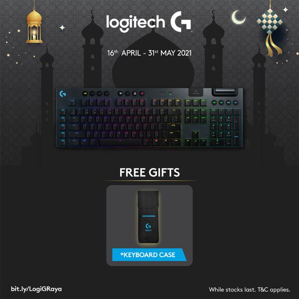 Logitech G913 LIGHTSPEED RGB Mechanical Gaming Keyboard, Low Profile GL Clicky Key Switch, LIGHTSYNC RGB, Advanced LIGHTSPEED Wireless and Bluetooth Support 920-009114 Malaysia