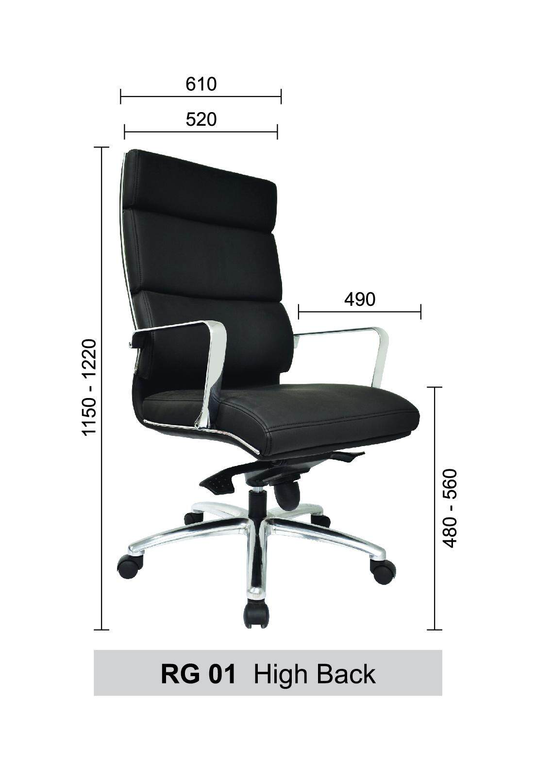 Picture of: Regalia Office Chairs Leather Executive High Back Recliner Computer Desk Swivel Chair Black Color Pre Order 2 Weeks Lazada