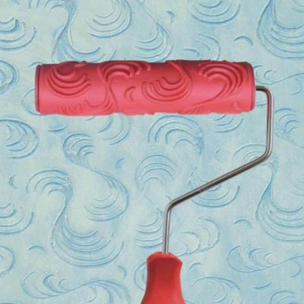 BolehDeals 7-Inch Các Loại Hoa Văn Nổi Tranh Cuộn Với Tay Cầm Nhựa