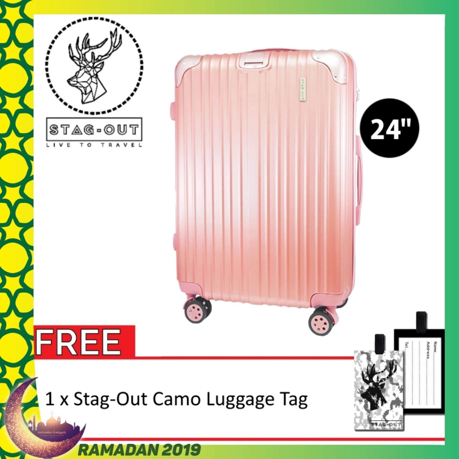 [stag-Out] Amirates Premium 24 Protector Abs Hardcase Travel Check-In Luggage Bag Suitcase (rose Gold) Raya 2019 By Kingsman Online Store.