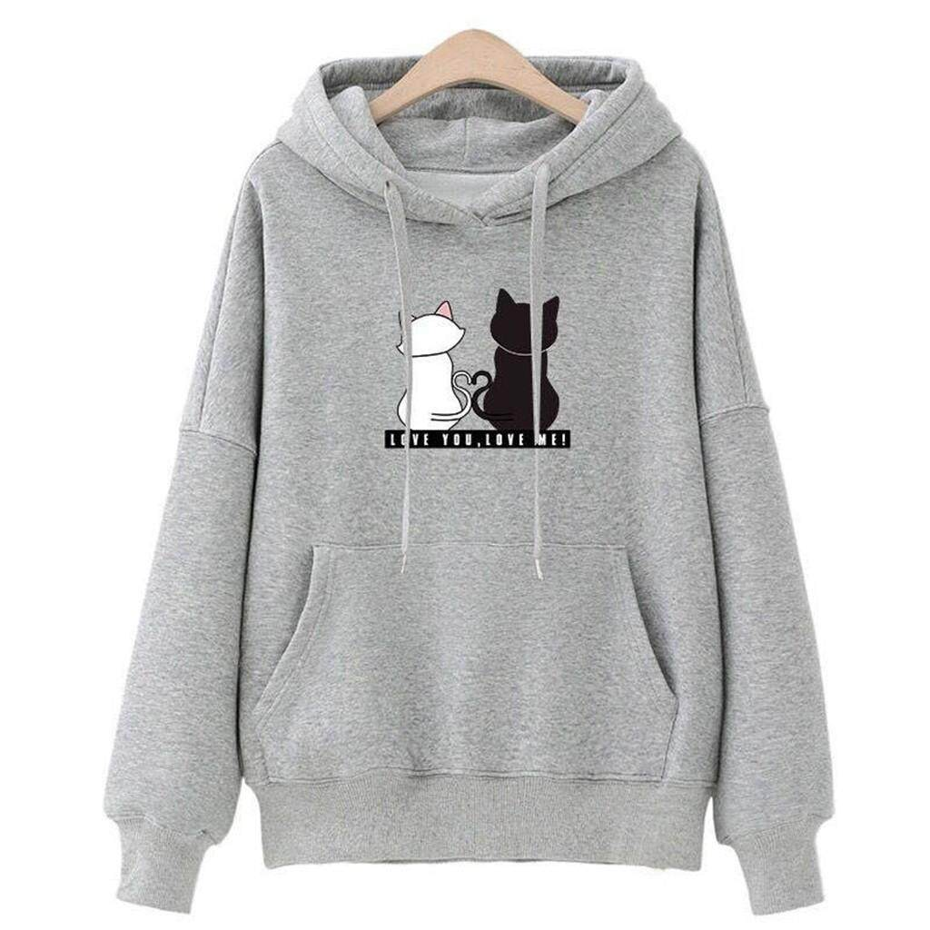 af0cb86d0a5 109292 items found in Plus Size. Women Hoodies Casual Sweatshirt Winter  Ladies Baggy Cat Jumper Pullover Tops