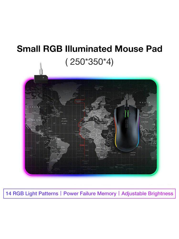 Gaming Mouse Pad LED Lighting World Map RGB Led Backlight Mouse Pad for PC Laptop Desk Keyboard Malaysia