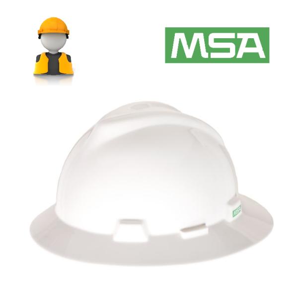 MSA V-Gard® Full Brim Hard Hat (Original USA)