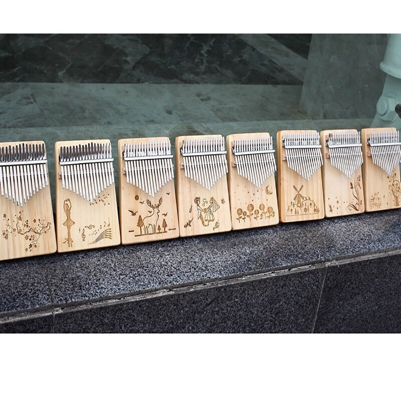 【Kalimba】【Tik Tok 】17 Key Wooden Kalimba Thumb Piano Finger Percussion Instrument with Accessories Malaysia