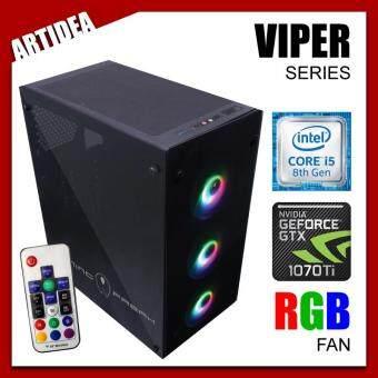 ARTIDEA 80G GHOST VIPER GAMING PC ( INTEL I5-8400 / H310M MOBO / 8GB 2666MHz RAM / PALIT GTX 1070 Ti DUAL FAN 8GB / 120GB SOLID STATE DRIVE / FSP 600W 80+ PSU )