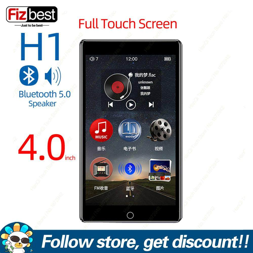 FAAEAL RUIZU H1 Full Touch Screen MP3 Player With Bluetooth 8GB Music Player With Built-in Speaker Support FM Radio Recording Video Player E-book HiFi Metal Audio Player Với Giá Sốc