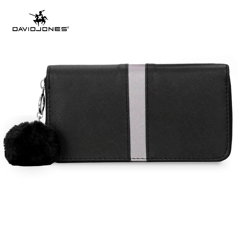 ce2935b1ae DAVIDJONES women wallet pu leather female handbag small spring patchwork lady  purse girl summer brand pouch