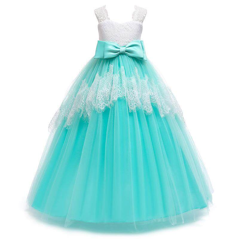 ae4b2e1467d 2019 Flower Girl Kids Baby Xmas Bridesmaid Party Formal Sequin Ball Gown  Dress Halloween costumes Christmas