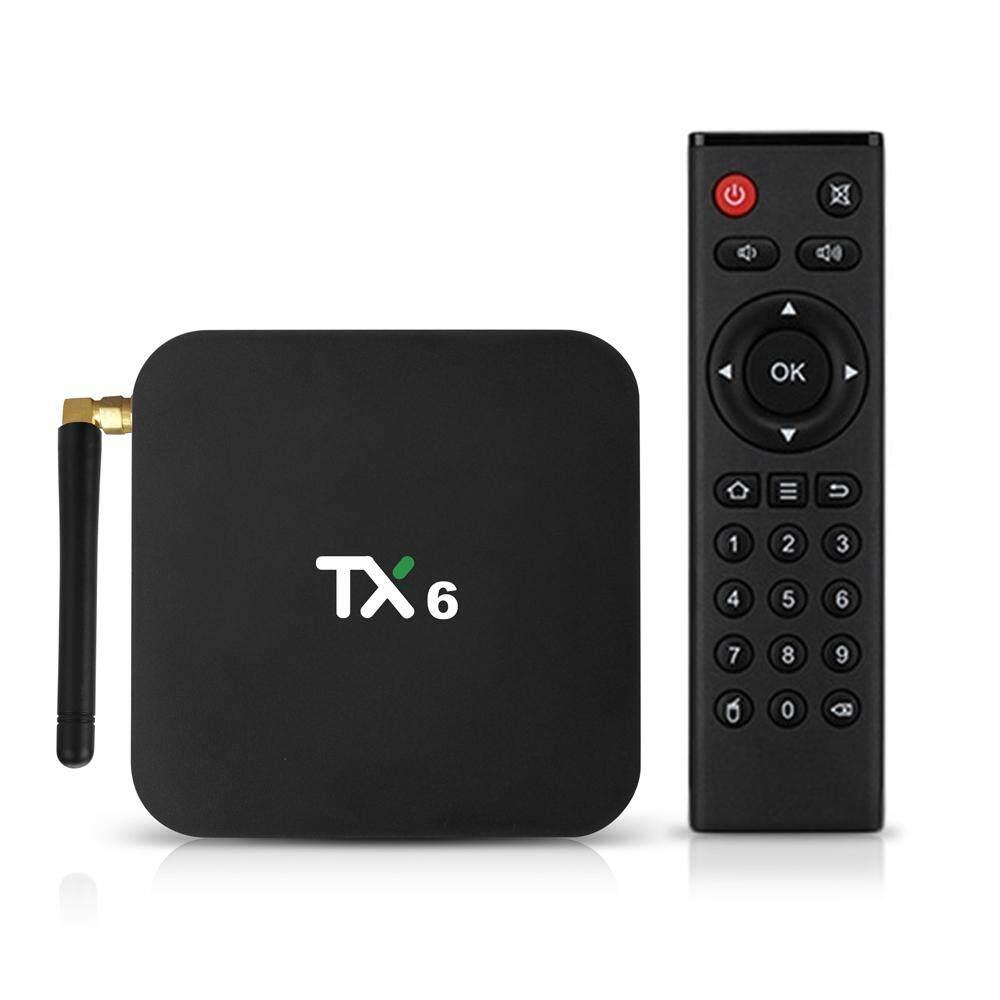 TX6 9.0 Kotak TV Allwinner H6 Smart 4 K Set Top Box 4 GB RAM 32 GB ROM 2.4G /5G Wifi 100 Mbps USB3.0 BT4.1 H.265 DLNA HD Pemutar Media US Plug
