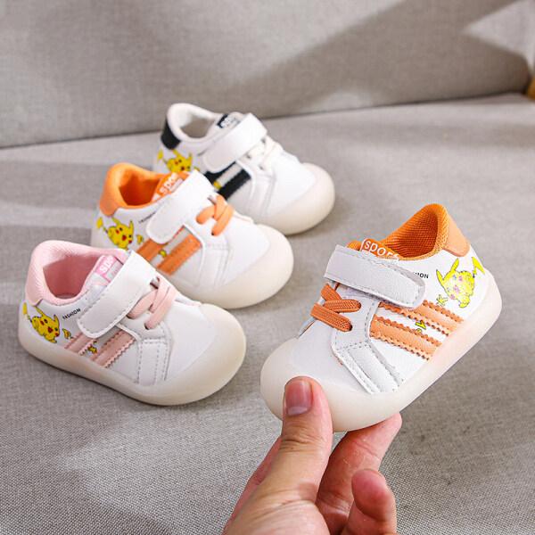 Giá bán Giày Thoáng Khí Bé Bé Trai Và Bé Gái Hình Pikachu Tiantian, Đế Giày Cho Trẻ Mới Biết Đi Baotou Mềm Nam Nữ, Chống Trượt