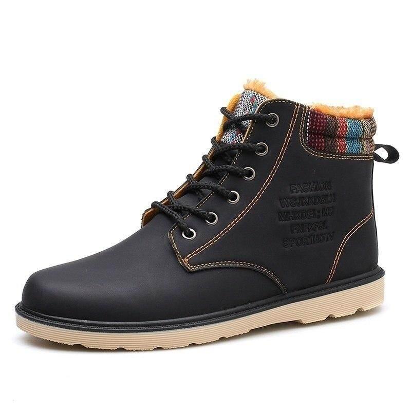 รองเท้าบูทแฟชั่นลูกไม้ฤดูหนาว Warm และรองเท้าผ้าใบขนสัตว์กลางแจ้ง Anti - เล่นสกีรองเท้า Comfort Masculina Bota Hh-035 By Chhuist.