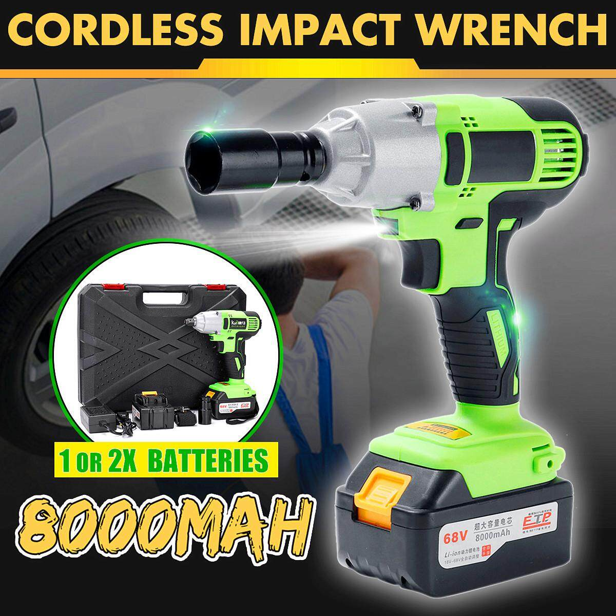 68v Cordless Screwdriver Lithium-Ion Electric Impact Wrench Brushless Motor