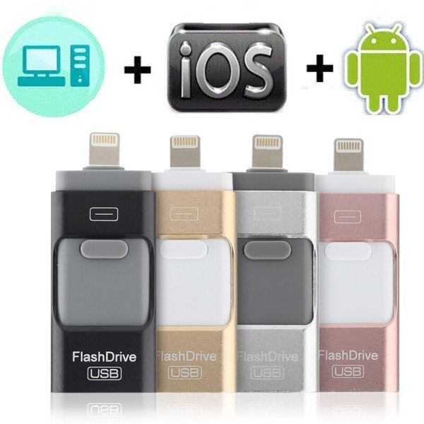 USB flash drive for iphone 7plus apple Pen Drive 128g 32g 64g Android OTG Pendrive for sony huawei U Disk 3 in 1 memory stick