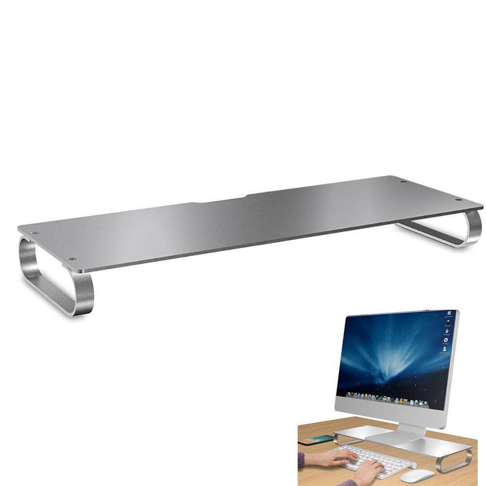 Aluminum Alloy Display Monitor Bracket Stand Increase Storage Space Laptop Desktop Computer Base