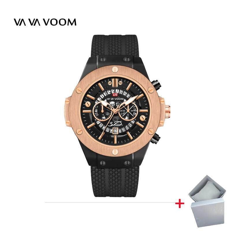 VA VA VOOM hollow calendar watch for men waterproof silicone foreign trade explosion sport sports men Malaysia