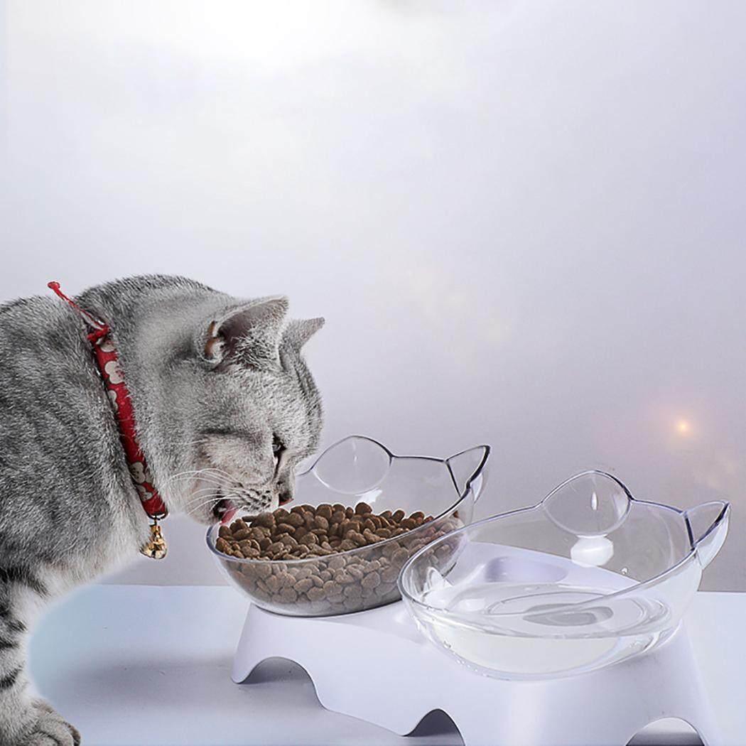 Chén Ăn cho thú cưng Nghiêng Bảo Vệ Cổ chống trơn trượt Hình Mèo Bát Ăn Mèo Bát - 5