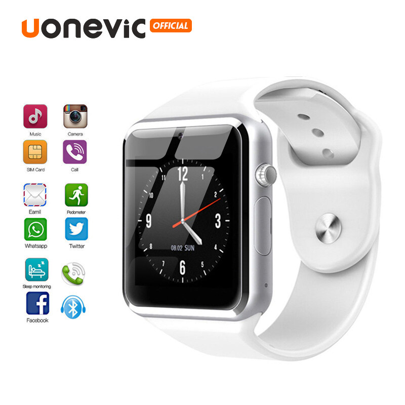 Đồng Hồ Thông Minh Uonevic A1 Có Camera Gọi Kết Nối Không Dây Bluetooth Dành Cho Điện Thoại Thông Minh IOS IPhone Android Dành Cho Nam