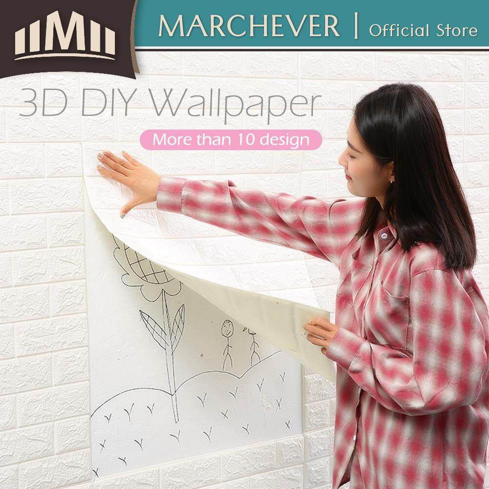 70cm x 77cm Wallpaper Decor PE Foam 3D Brick Stone Wall Paper Room Wall Sticker