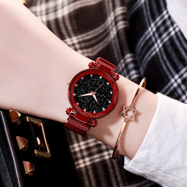 Douyin Explosion Milan Watch with Fashion Starry Sky Magnetite Watch Starry Sky Watch Malaysia