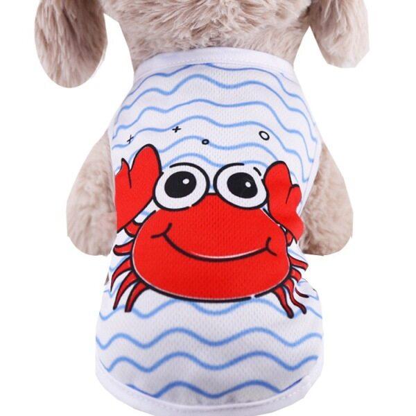 DY yêu mùa hè quần áo thú cưng watermeolon vest cua in áo sơ mi chó nhỏ quần áo