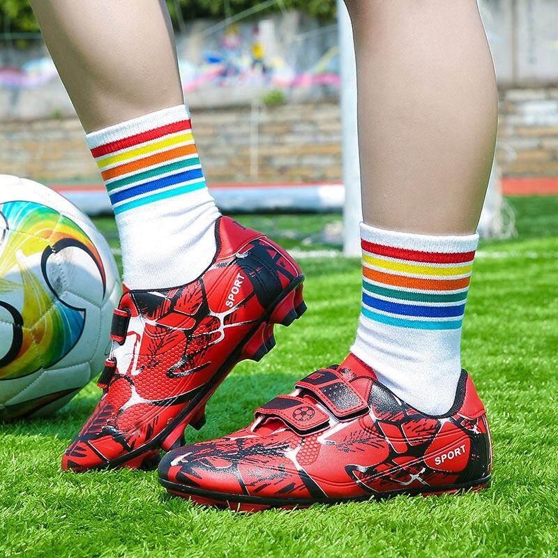 YEALON Giày Đá Bóng Trẻ Đá Bóng Sepatu Futsal Giày Thể Thao Trẻ Em Mềm Giày Futsal Sepatu BOLA Giày Đá Bóng bé trai Sepatu Futsal Thông Số Kỹ Thuật Superfly Ban Đầu Banh Sepak Futsal Trẻ Em Size28-39 13