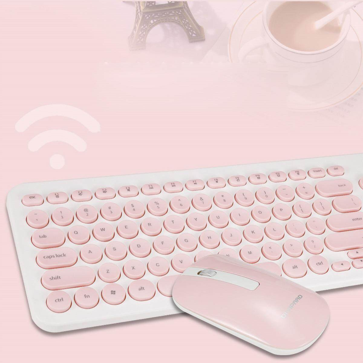 2.4G Wireless Gaming Keyboard+Mouse For PC Computer Laptop Pink