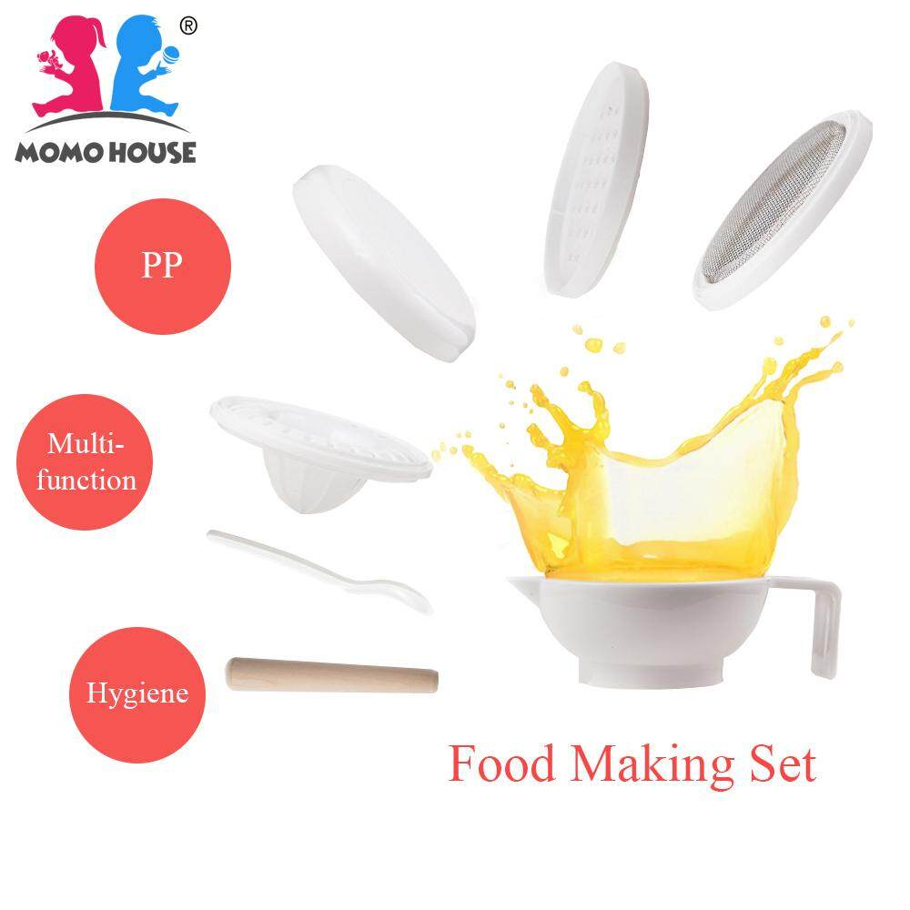 MOMO HOUSE Baby Food Maker Masher Multi Functional Grinding Making Set image on snachetto.com