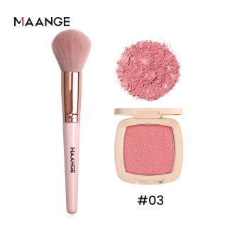 Cọ đánh má hồng MAANGE chuyên nghiệp + phấn má hồng 3 màu tuỳ chọn - INTL thumbnail
