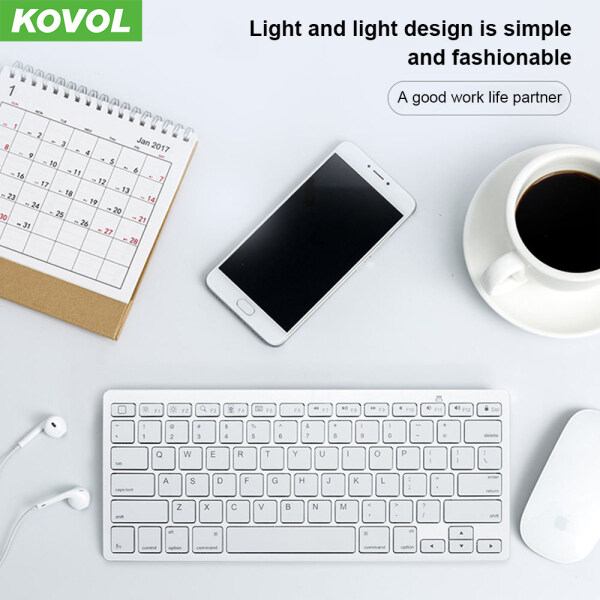 KOVOL Ultra Slim Silent Bluetooth Keyboard Mini Wireless Keyboard Universal For Apple Mac/iPad/Huawei Lenovo Xiaomi Malaysia