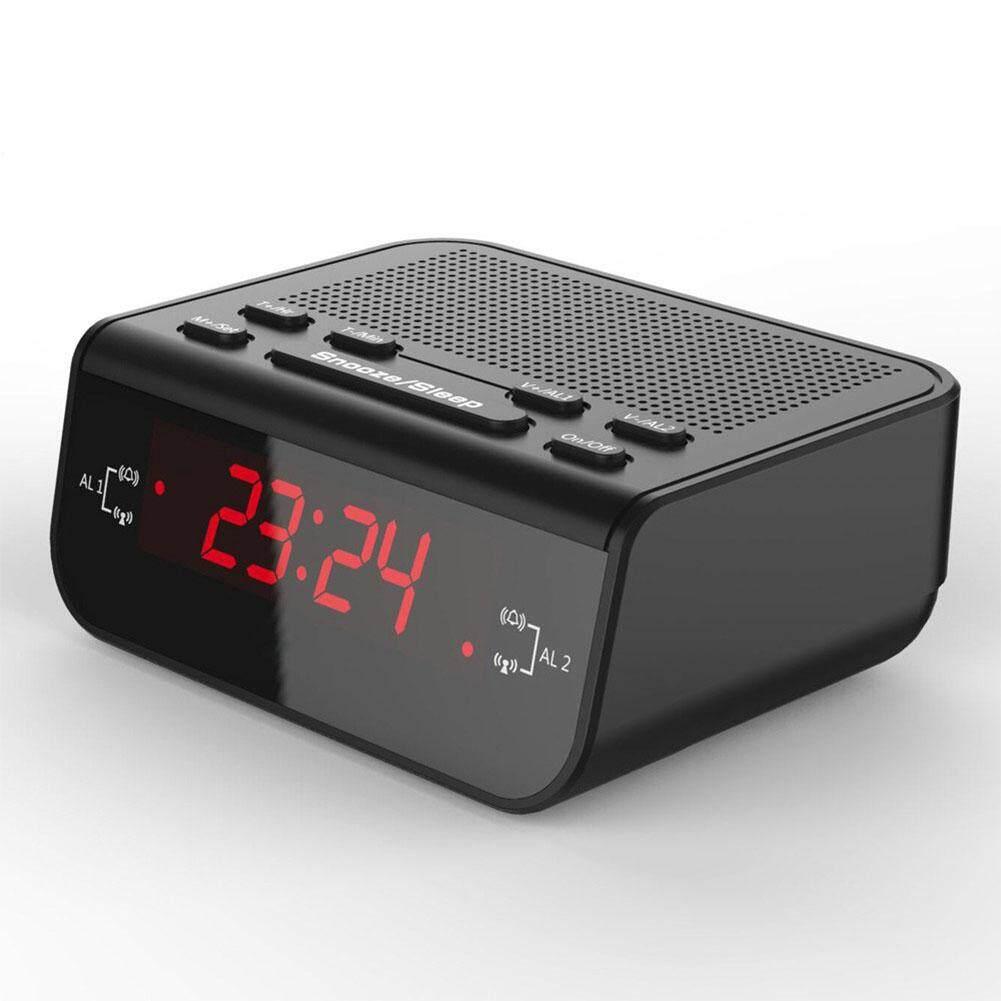 LED Clock Radio European Style Creative Alarm Clock Bedside Clock Control Plug-In Radio FM