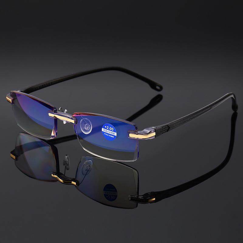 Anti Blue Ray Rimless Reading Glasses With +150 Degree By Josejinn.