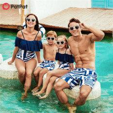 PatPat Bộ đồ bơi kiểu dáng đơn giản hợp thời trang cho cả gia đình – INTL