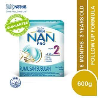 Nan Pro 2 Follow Up Formula (6-36 Months) 600g X1 By Lazada Retail Nankid.
