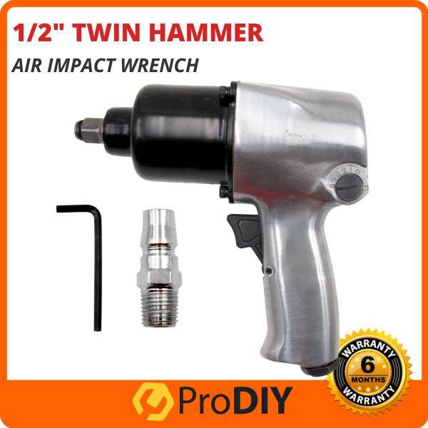 1/2 Inch Professional Twin Hammer Air Impact Wrench Heavy Duty 400 Ft. Lb. ( Solo / 18PCS Kit )