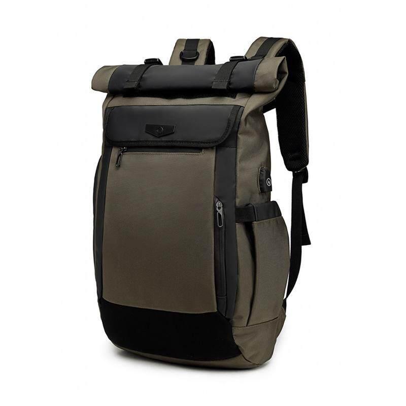 OZUKO New Men Backpack Multifunction USB Charging Laptop Bag Fashion Schoolbag