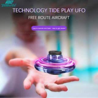 Con quay hồi chuyển đồ chơi FlyNova RCTOWN cho máy bay cảm ứng thông minh, máy bay không người lái mini, thiết kế kiểu UFO, xoay 360 với đèn Led chiếu sáng và sạc USB - INTL thumbnail