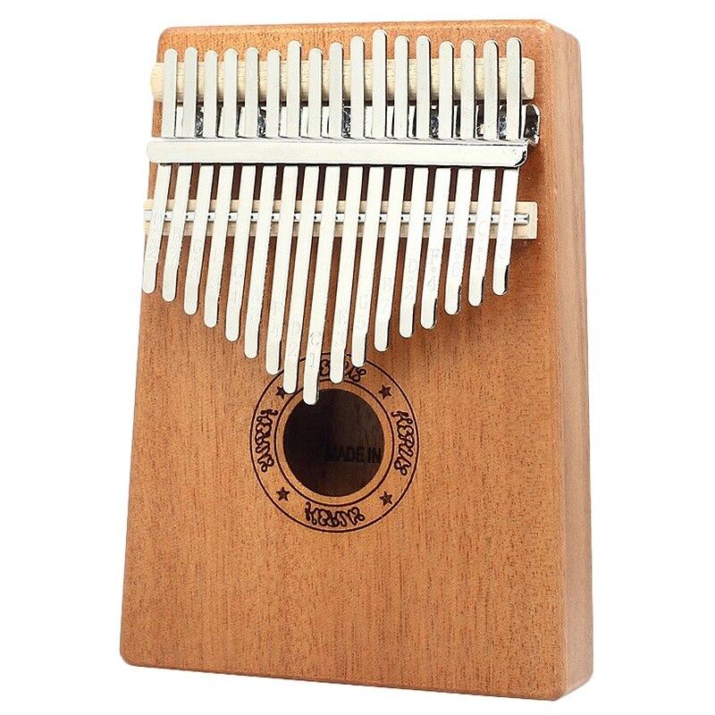 Kalimba Thumb Piano 17 Keys Mahogany Wooden Finger Percussion for Music Lover Beginners Children Malaysia
